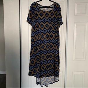 LuLaRoe Carly high low dress size 3XL